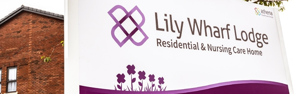 Lily Wharf Lodge Sign